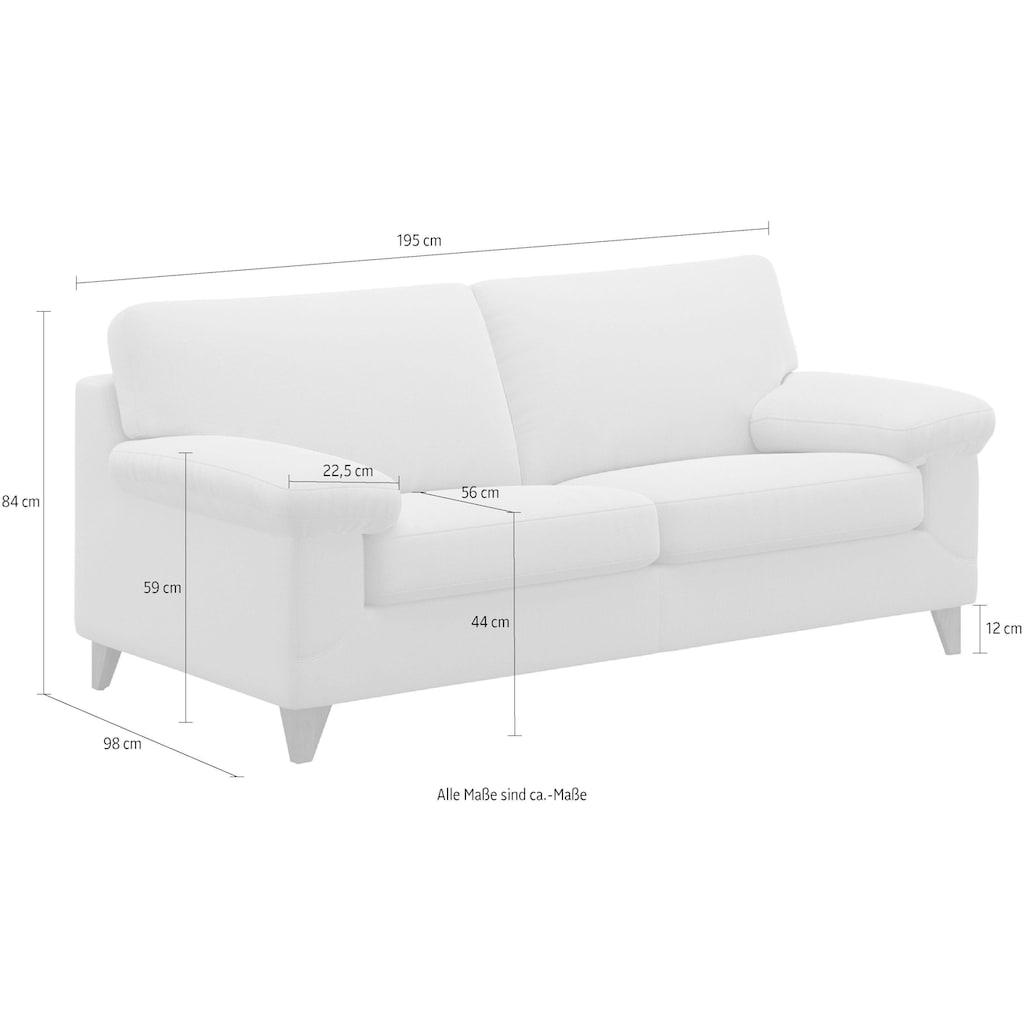 machalke® 2,5-Sitzer »diego«, mit weichen Armlehnen, Füße wengefarben, Breite 195 cm