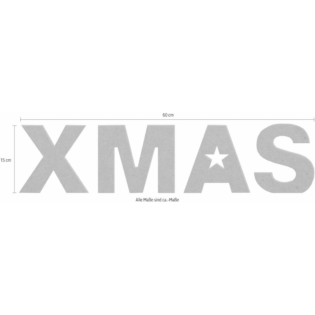 Wall-Art Dekoobjekt »XMAS«, 60/15 cm