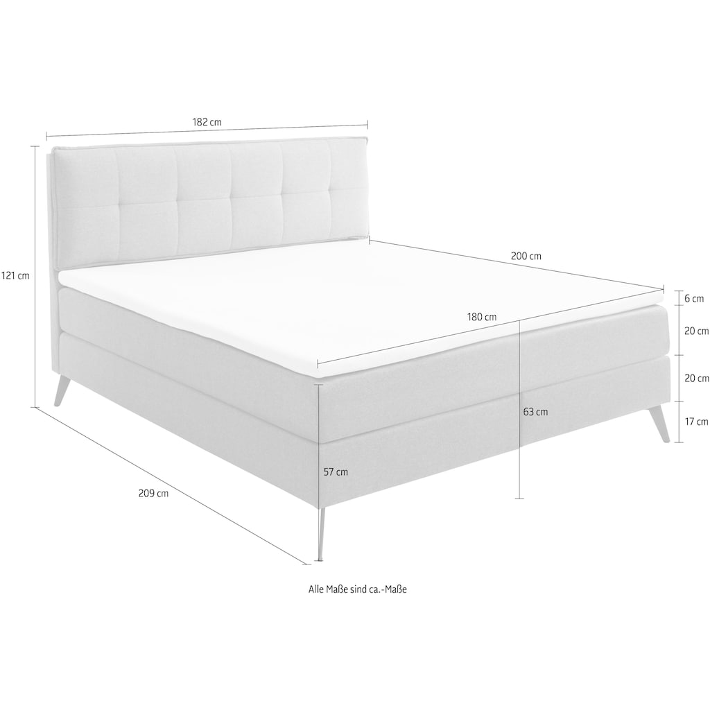 Guido Maria Kretschmer Home&Living Boxspringbett »Smart«, mit Kaltschaum-Topper