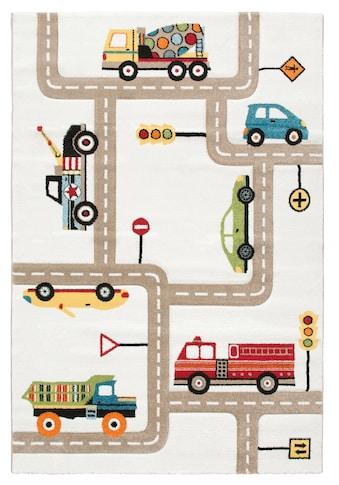 Lüttenhütt Kinderteppich »Strassen«, rechteckig, 13 mm Höhe, handgearbeiteter... kaufen