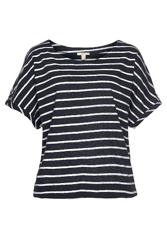 Esprit T-Shirt, aus sommerlicher Baumwoll-Leinen-Mischung kaufen