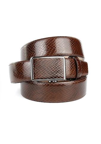 Anthoni Crown Ledergürtel, mit Reptil-Muster kaufen