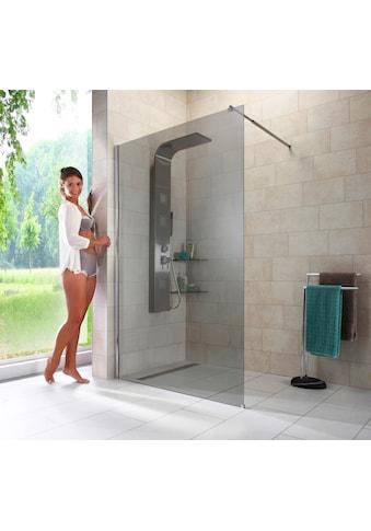 welltime Duschwand »Duschabtrennung«, Breite 120 cm, Grauglas kaufen