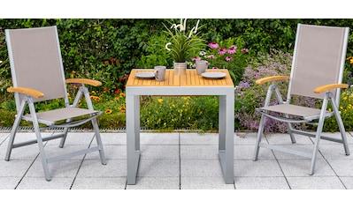 MERXX Gartentisch »Naxos«, Eukalyptus/Alu, ausziehbar, 120x70 cm, natur kaufen