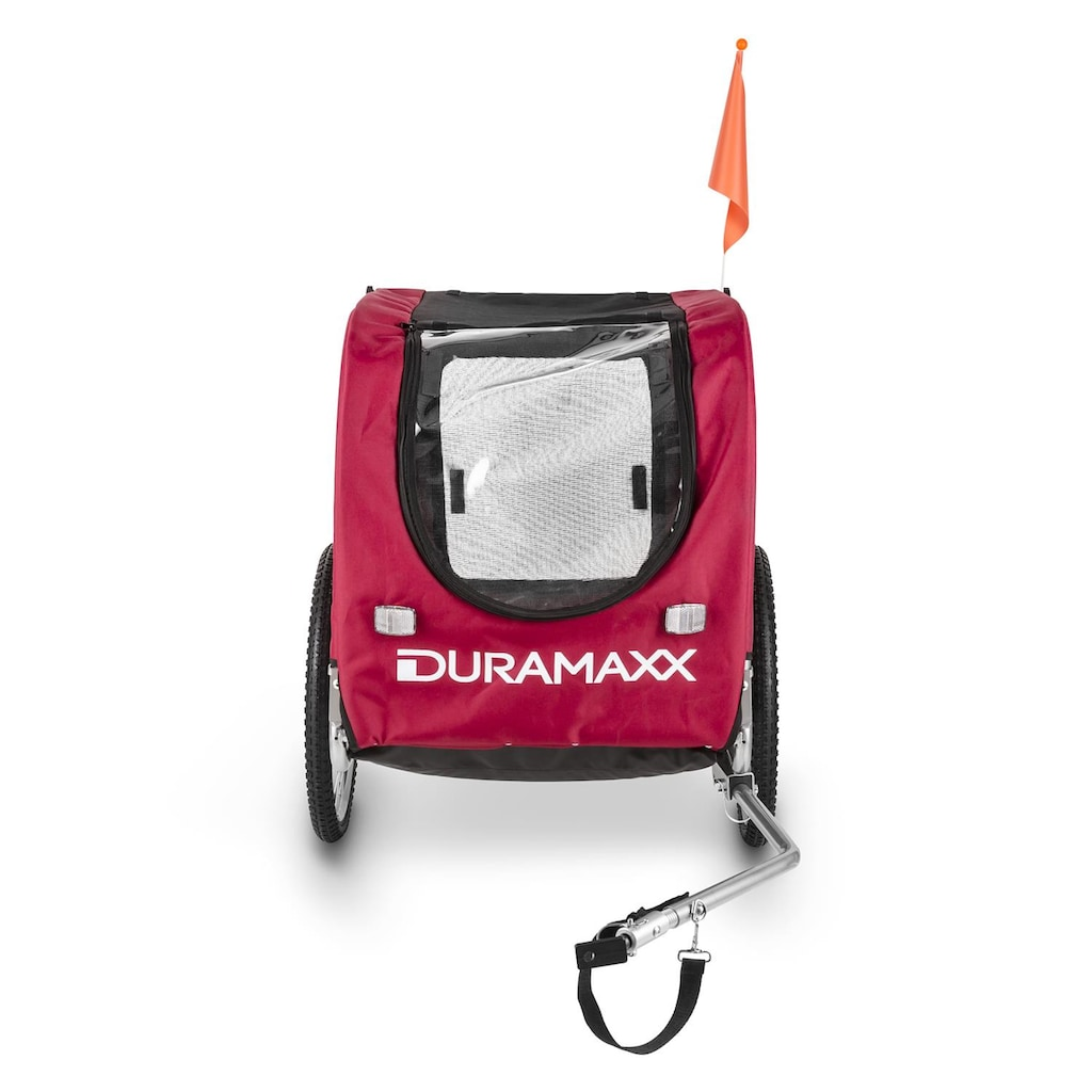 Duramaxx Fahrradanhänger Hundeanhänger 250l 40kg Stahlrohr