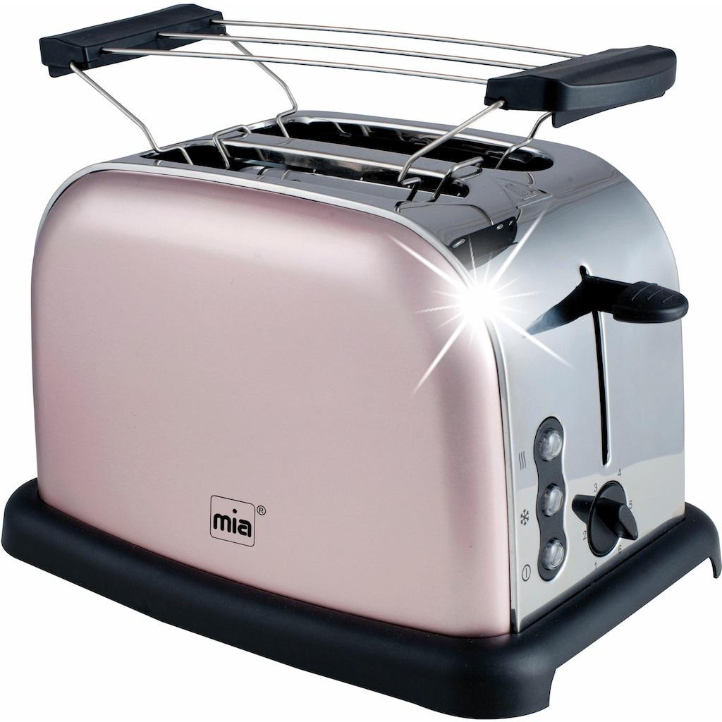 MIA Toaster »TA 4712RG«, 2 kurze Schlitze, 900 W