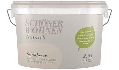 SCHÖNER WOHNEN FARBE Wand -  und Deckenfarbe »Naturell Sandbeige«, 2,5 l kaufen