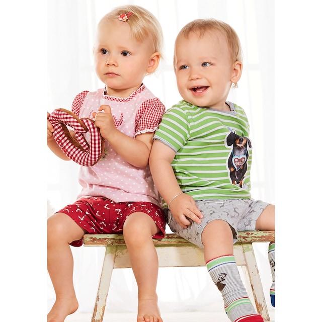 BONDI Trachtenshirt Kinder mit Punkteprint allover