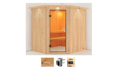 Karibu Sauna »Laila«, 3,6-kW-Plug & Play Ofen mit integrierter Steuerung kaufen