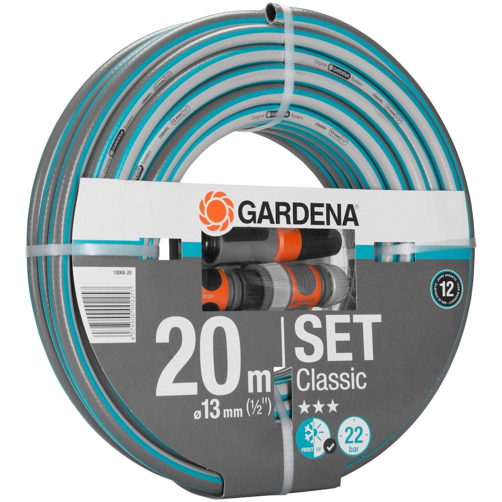"""GARDENA Gartenschlauch »Classic, 18008-20«, 13 mm (1/2""""), mit Systemteilen"""