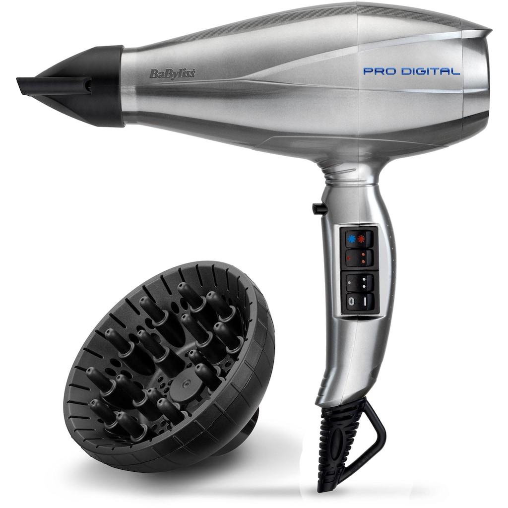 BaByliss Haartrockner »6000E Pro Digital«, 2200 W, 3 Aufsätze, mit digitalem Motor