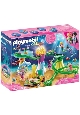 Playmobil® Konstruktions-Spielset »Korallenpavillon mit Leuchtkuppel (70094), Magic«, Made in Germany kaufen