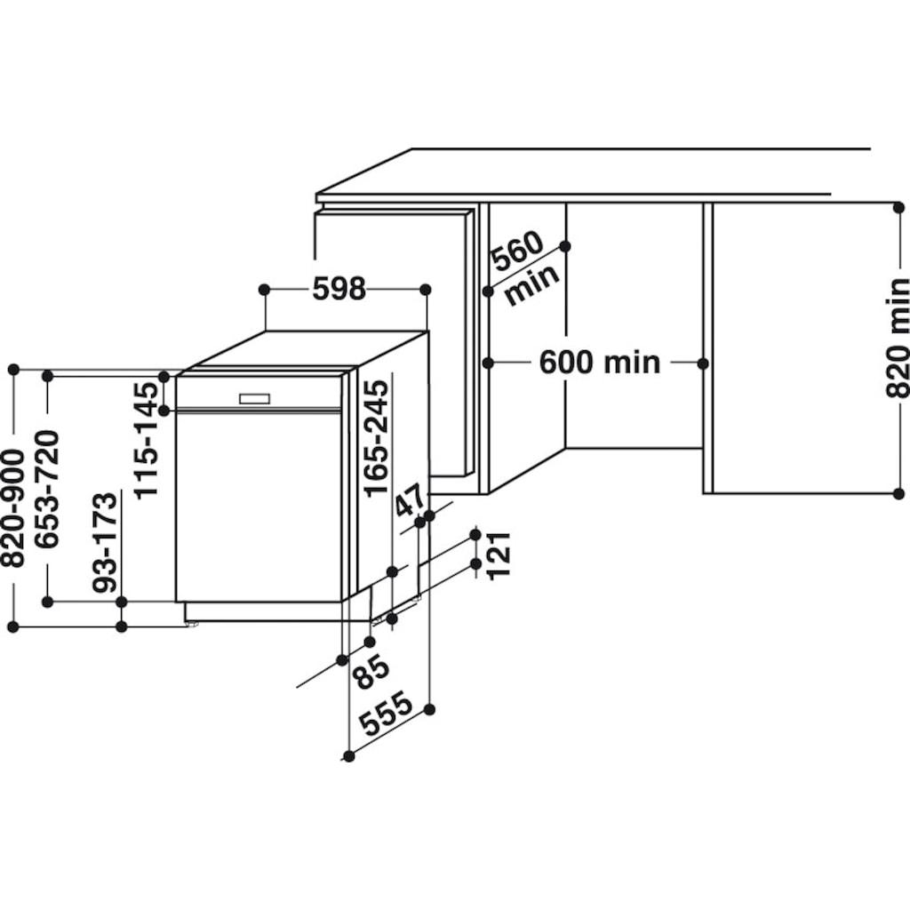 BAUKNECHT teilintegrierbarer Geschirrspüler, BBO 3O41 PLT, 14 Maßgedecke