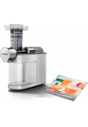 Philips Slow Juicer »Avance HR1945/80«, 200 W, für kaltes Pressen, weiß/grau kaufen