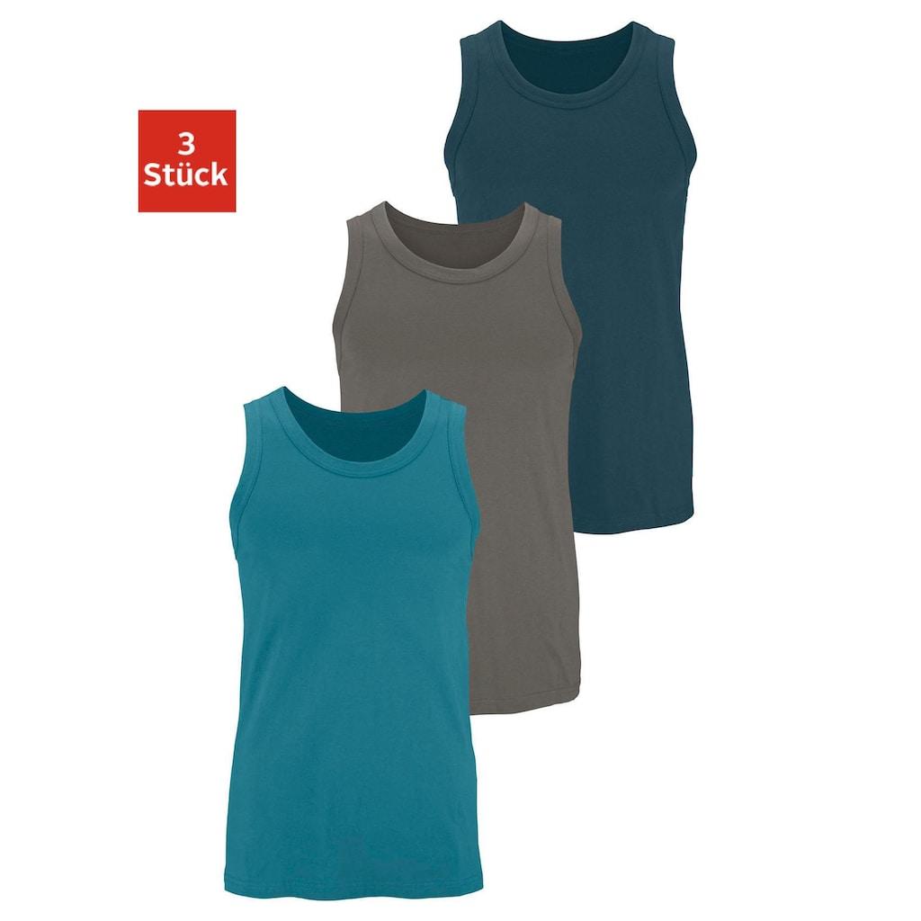 H.I.S Unterhemd, (3 St.), aus Baumwolle