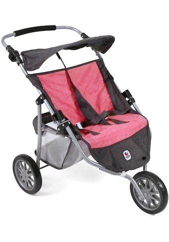 "CHIC2000 Puppen - Zwillingsbuggy ""Jogger, Anthrazit - Pink"" kaufen"