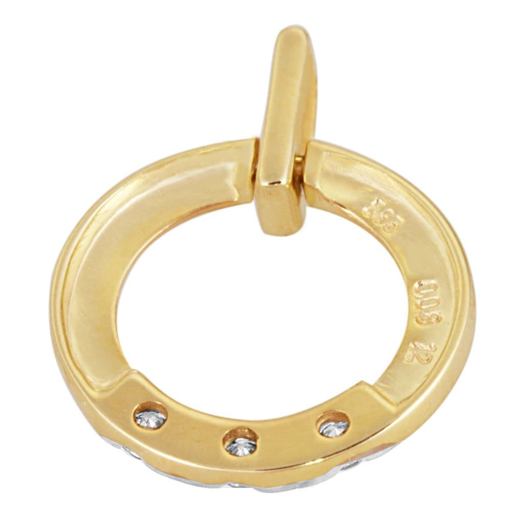 goldmaid Anhänger Memoire 585/- Gelbgold 3 Brillanten 0,08 ct.