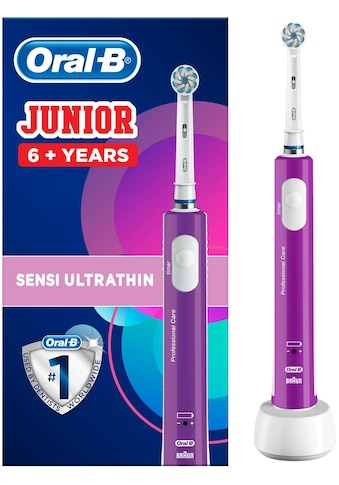 Oral B Elektrische Zahnbürste Junior Purple, Aufsteckbürsten: 1 Stk. kaufen