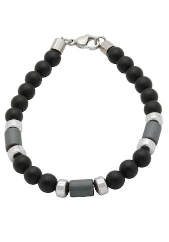 Firetti Armband »Rondelle in glänzender und matter Optik, massiv«, mit Onyx und... kaufen