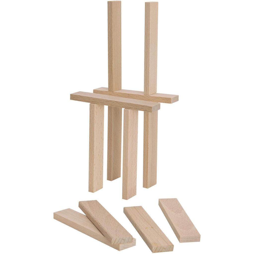 Eichhorn Spielbausteine »Holzbaukasten«, (200 St.), Made in Europe, FSC®-Holz aus gewissenhaft bewirtschafteten Wäldern