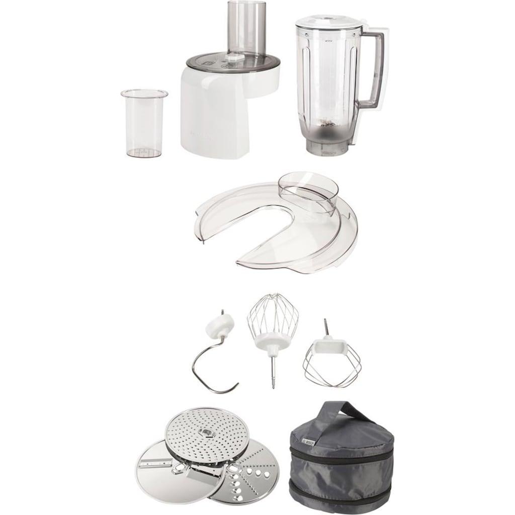 BOSCH Küchenmaschine »MUM5 CreationLine MUM58L20«, vielseitig einsetzbar, Durchlaufschnitzler, 3 Reibescheiben, Mixer, grau/silber