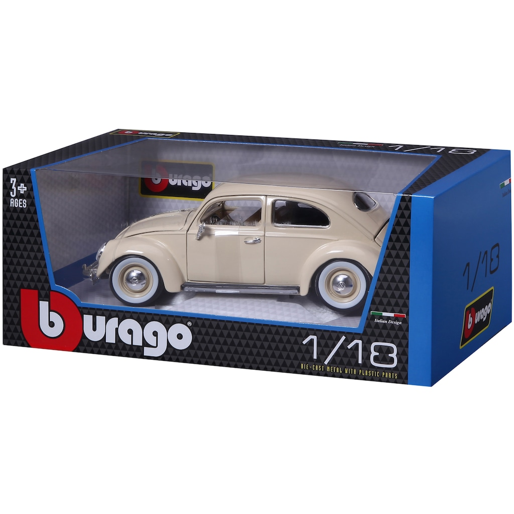 Bburago Sammlerauto »Volkswagen Käfer (1955), beige«, 1:18