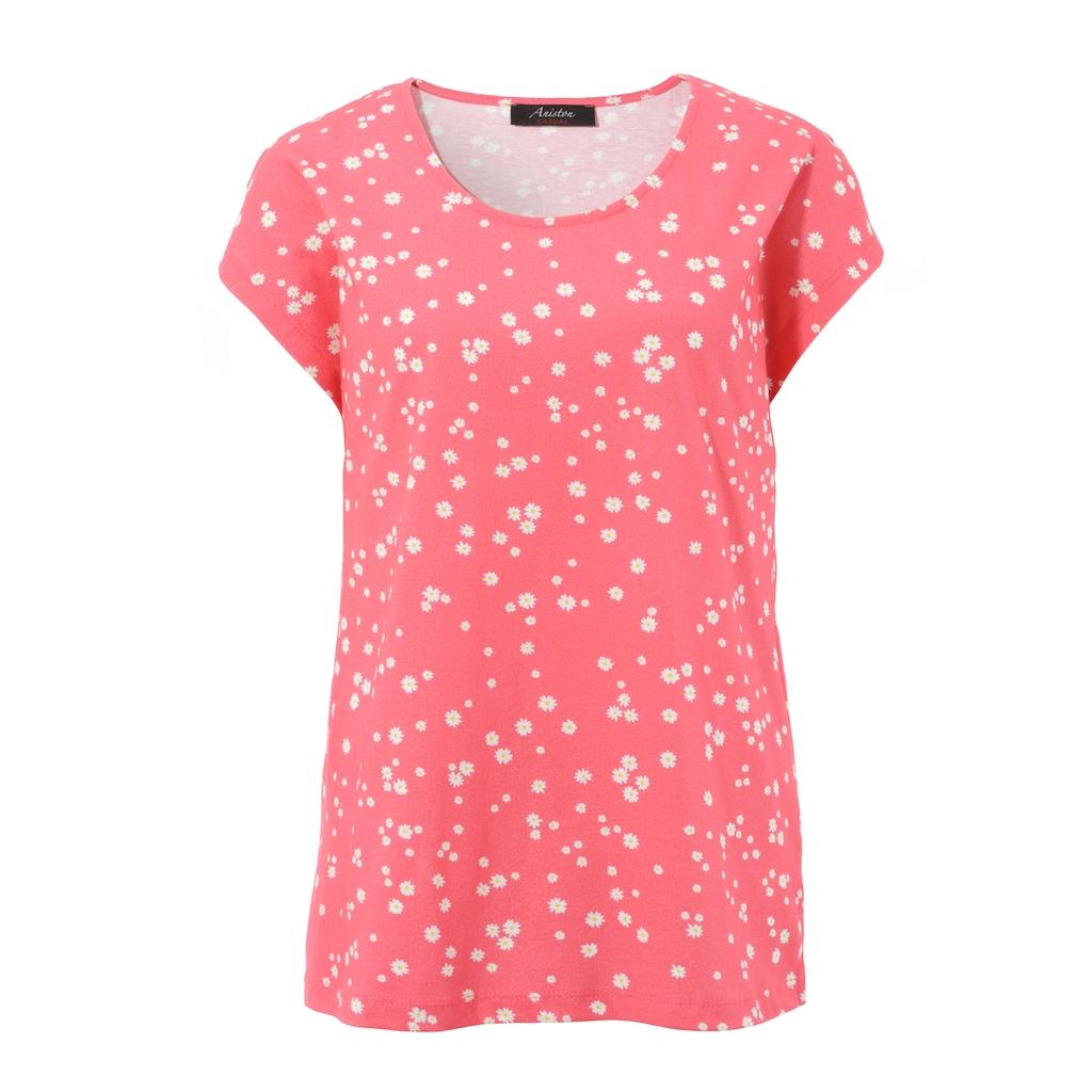 Aniston CASUAL T-Shirt, mit Margeriten bedruckt