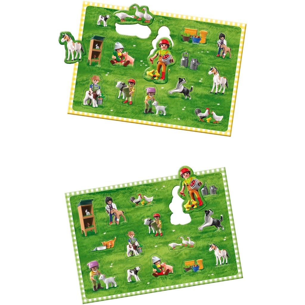 Schmidt Spiele Spiel »Playmobil, Wirbel auf dem Bauernhof«, Made in Germany