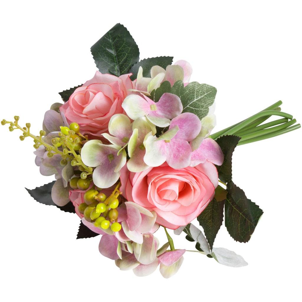 Botanic-Haus Kunstblume »Rosen-Hortensienstrauß«