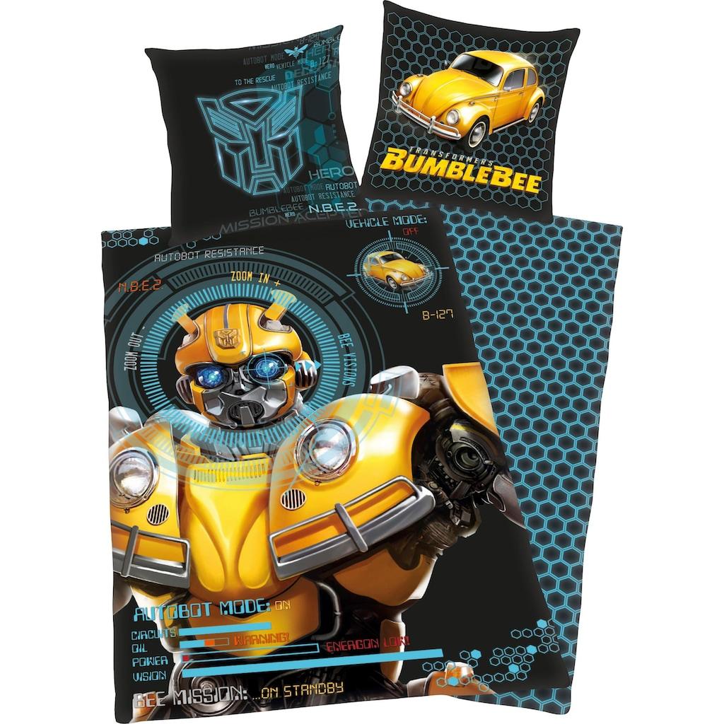 Transformers Kinderbettwäsche »Bumblebee«, mit coolem Motiv