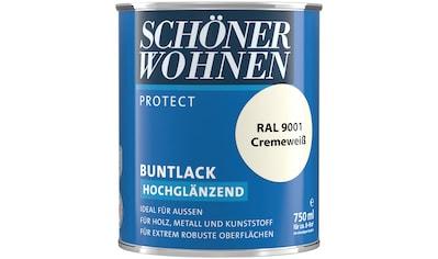 SCHÖNER WOHNEN-Kollektion Lack »Protect Buntlack«, hochglänzend, 750 ml, cremeweiß RAL... kaufen