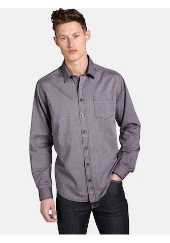 SHIRTMASTER Langarmhemd »purplefall«, mit Kontrast-Stiching kaufen