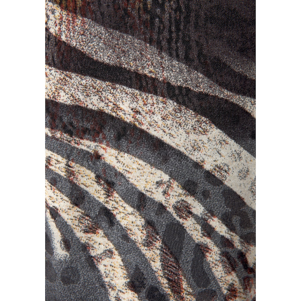 Beachtime Longtop, (Set, 2 tlg., mit Leggings), in Animalprint
