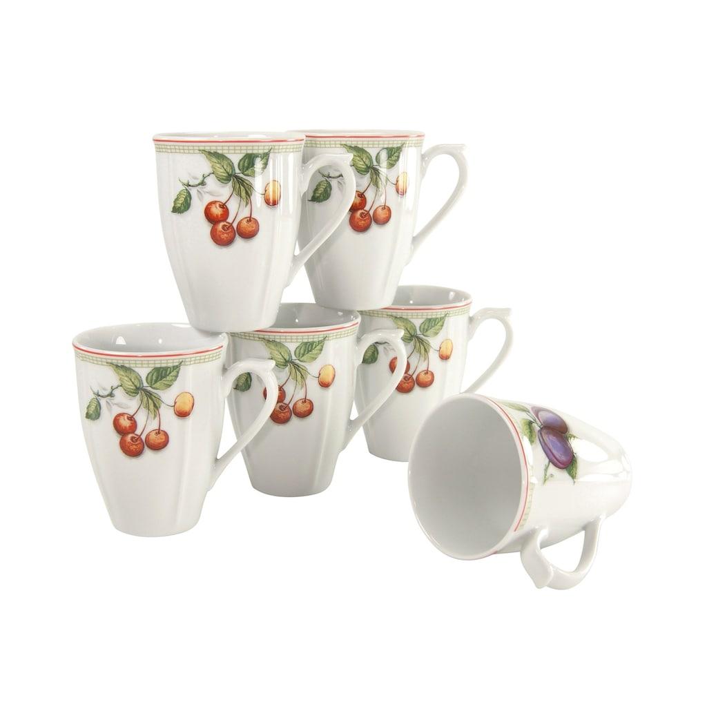 CreaTable Becher »Flora Orchard«, (Set, 6 tlg.), 6-teilig