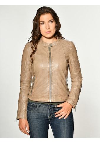 Maze Lederjacke mit Reißverschluss am Ärmel kaufen