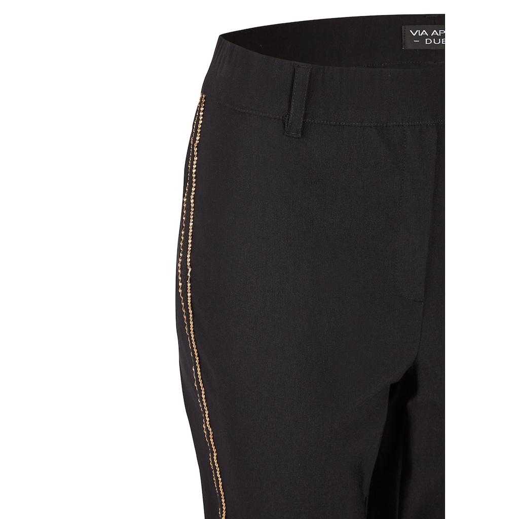 VIA APPIA DUE Modische Hose mit Galon-Streifen Plus Size