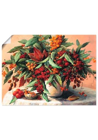 Artland Wandbild »Herbst Blumenstrauß«, Blumen, (1 St.), in vielen Größen &... kaufen