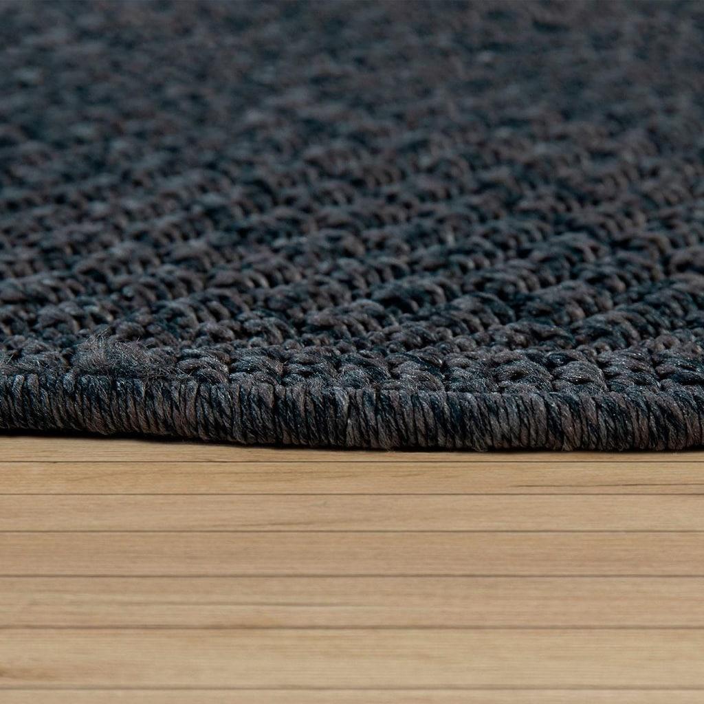 Paco Home Teppich »Timber 125«, rund, 75 mm Höhe, Sisal Optik, In- und Outdoor geeignet, Wohnzimmer