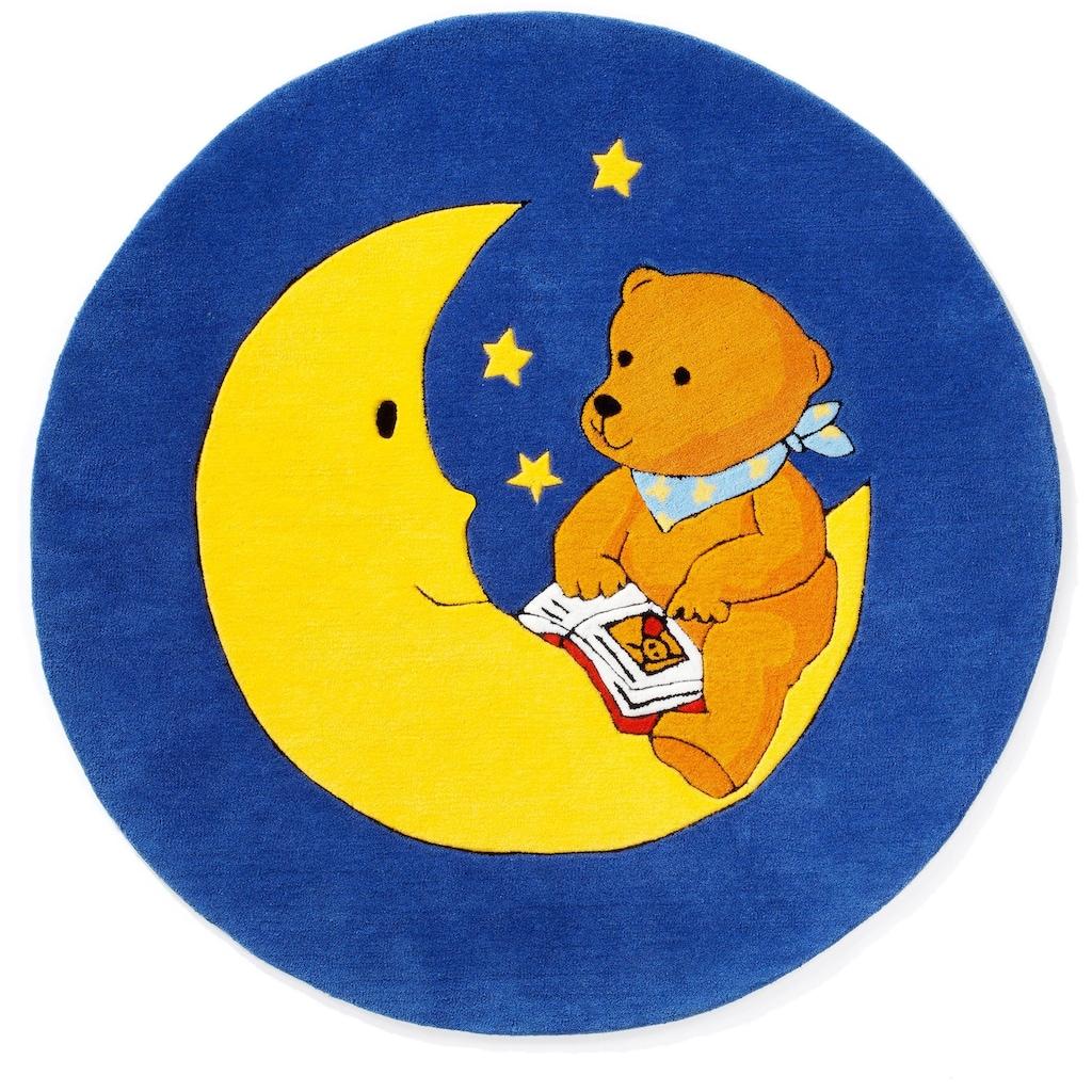 MONDBÄR Kinderteppich »MO-1337«, rund, 10 mm Höhe, Konturenschnitt, brillante Farben, Kinderzimmer