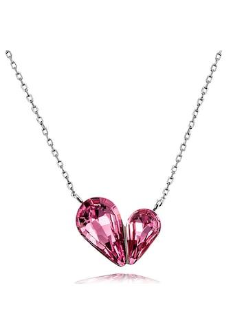 goldmaid Collier, Herz geschwungen 925 Sterlingsilber Zirkonia pink kaufen