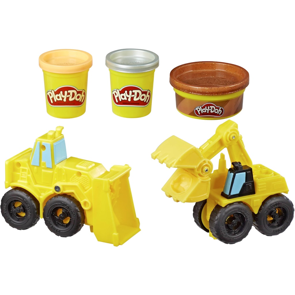 Hasbro Knete »Play-Doh Wheels Bagger & Schaufellader«