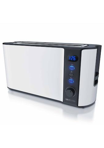 Arendo 2 Scheiben Langschlitz Toaster in Weiß matt kaufen