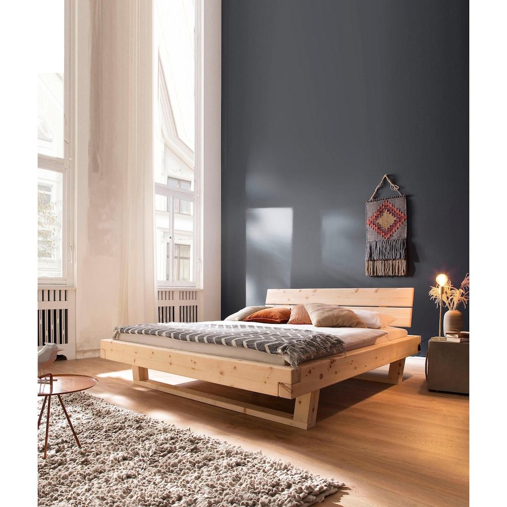 Premium collection by Home affaire Massivholzbett »Ultima«, aus schönem duftendem massivem Zirbenholz, in unterschiedlichen Bettbreiten erhältlich