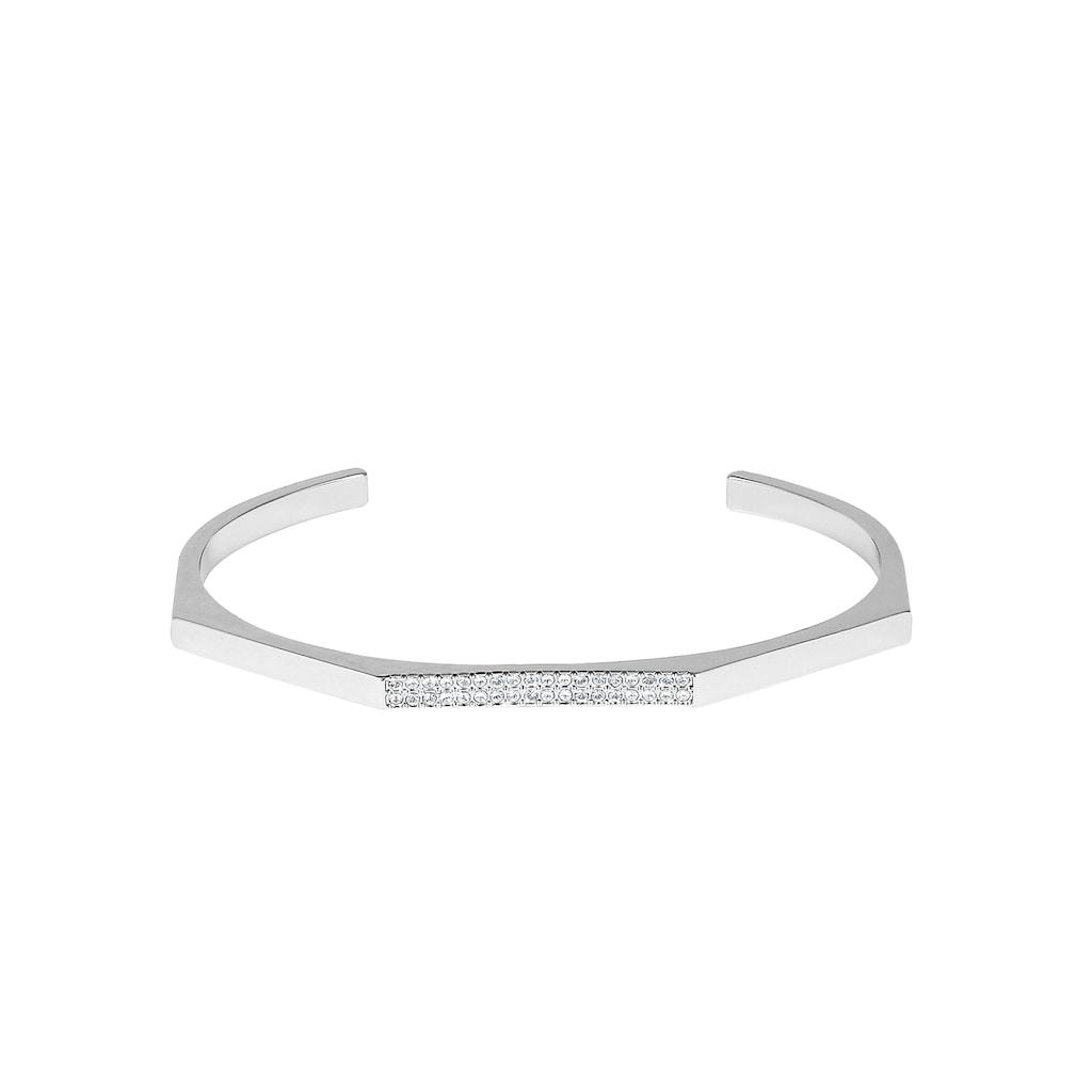 DKNY Armspange »NYC Geometric Skinny Pave Cuff (RH), 5548738«, mit Swarovski® Kristallen