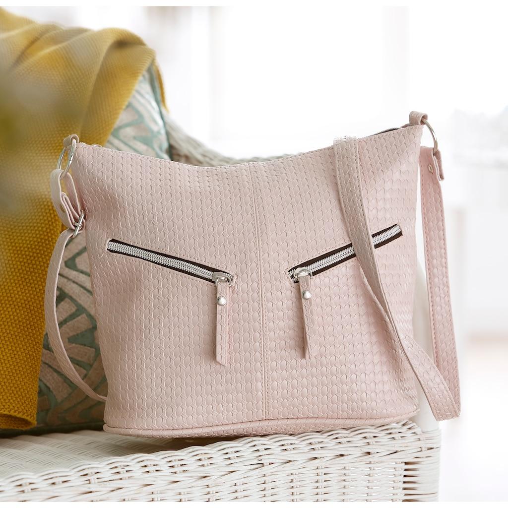 J.Jayz Umhängetasche, mit schicken Zierriemchen und herrausnehmbarer Zusatztasche