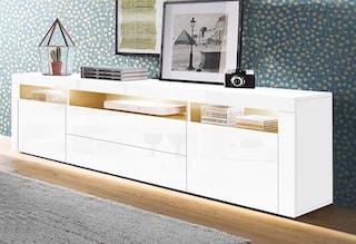 borchardt m bel lowboard breite 166 cm bequem auf raten kaufen. Black Bedroom Furniture Sets. Home Design Ideas