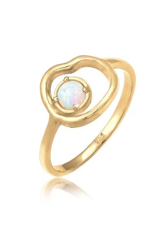 Elli Fingerring »Synthetischer Opal Organic Look Zart 925 Silber« kaufen