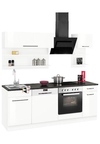 HELD MÖBEL Küchenzeile »Tulsa«, ohne E-Geräte, Breite 210 cm, schwarze Metallgriffe,... kaufen