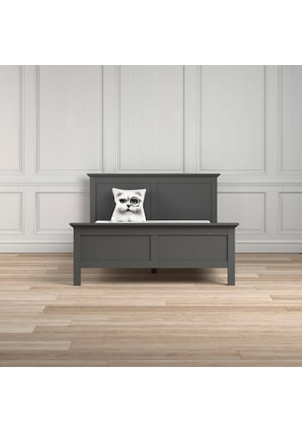 Home affaire Bett »Paris«, in romantischer Landhausoptik aus grau foliertem Holzfurnier kaufen