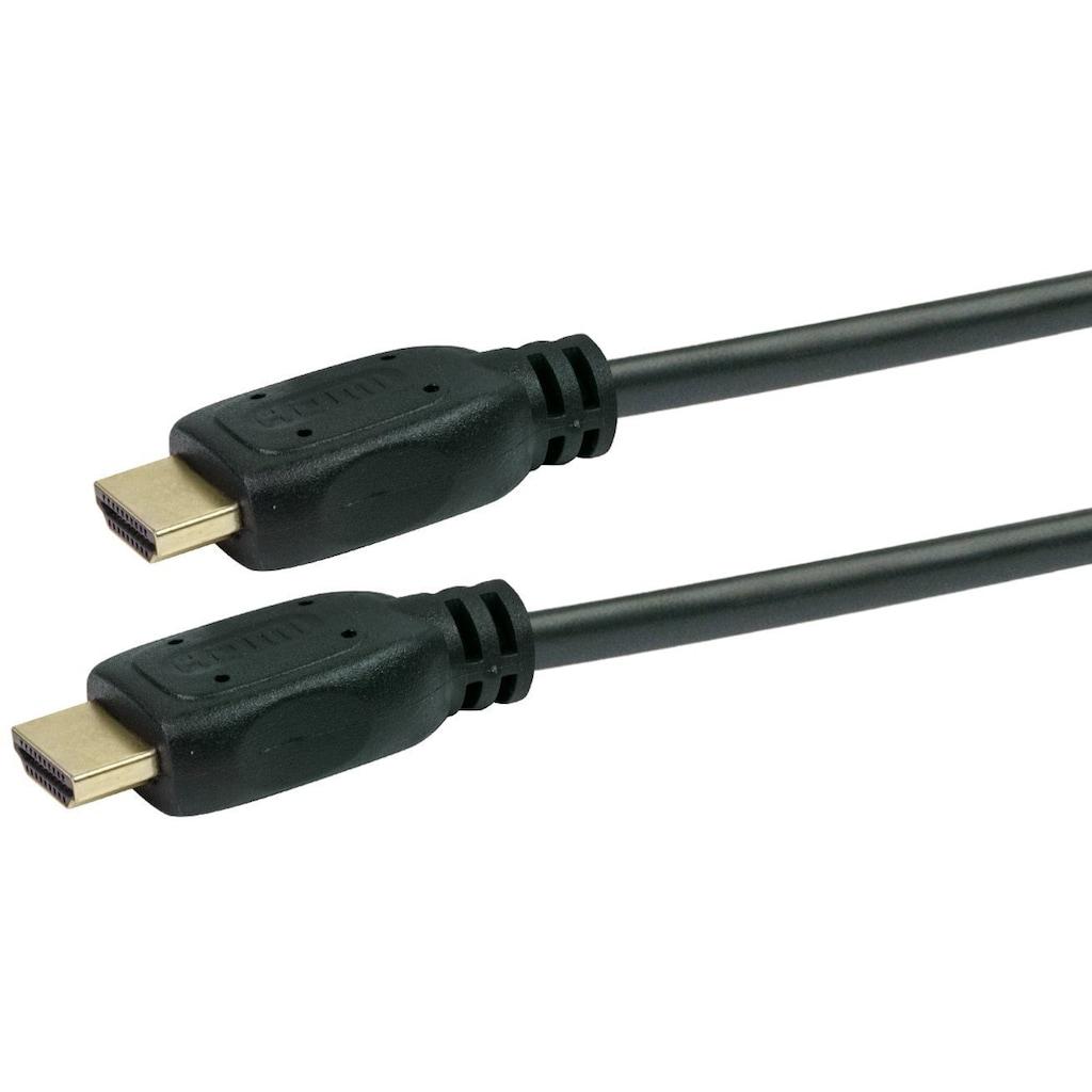 Schwaiger High Speed HDMI Kabel mit Ethernet, 4K, Full HD, 3D Ultra HD »vergoldete Kontakte«